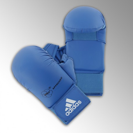 mitaines-karate-wkf-avec-pouce-adidas blue