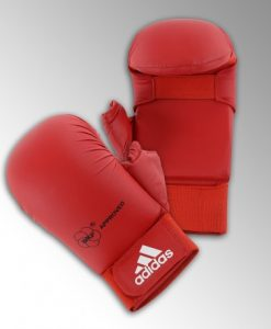 mitaines-karate-wkf-avec-pouce-adidas red