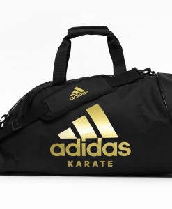 adiACC052 - 2IN1 BAG - BLACK-GOLD - FRONT - KARATE